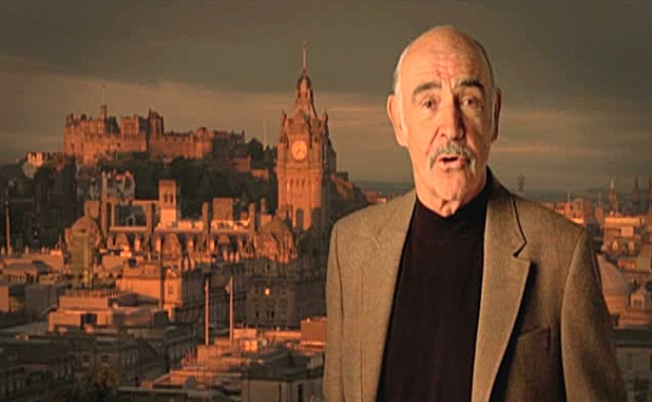 Sean Connery screengrab from VisitScotland video