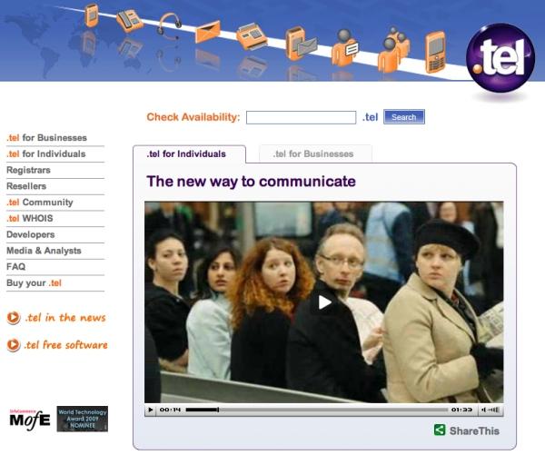 Telnic_website