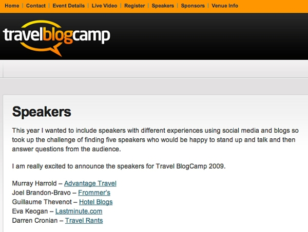 Travel BlogCamp